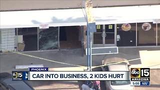 Four hospitalized after vehicle crashes into Phoenix store - Video