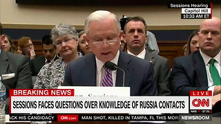 Sessions Says He Doesn't Remember Trump Aides Informing Him About Russian Contacts - Video