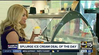 Get half off ice cream treats at Splurge - Video