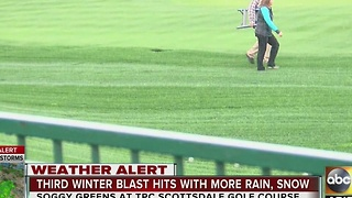 Rain at TPC Scottsdale not expected to be a problem for Waste Management Phoenix Open - Video