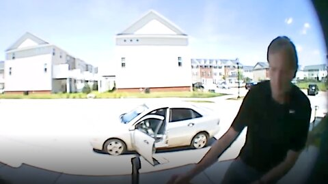 Maryland 'Porch Pirate' Caught on Camera Stealing Packages on Amazon Prime Day