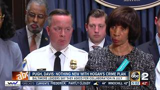 Baltimore mayor, police commissioner respond to Governor Hogan's crime plan - Video