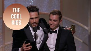 James Franco is the Golden Globes' cool kid - Video