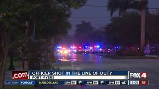 Fort Myers Police officer shot in the line of duty - Video