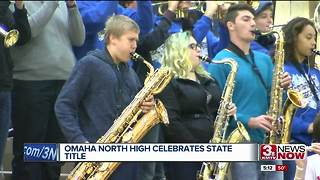 Omaha North celebrates state title Tuesday - Video