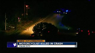 Motorcyclist killed in crash in Palm City