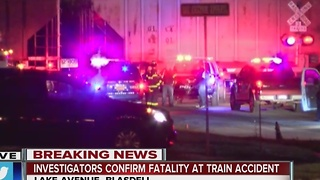 Person struck and killed by CSX train at Lake Avenue crossing - Video