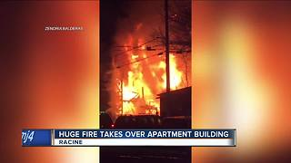 Overnight apartment fire in Racine leaves thousands of dollars in property damage - Video