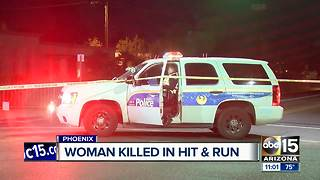 Woman hit and killed in Phoenix hit and run crash