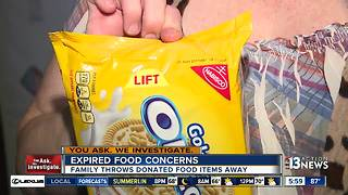 Woman concerned about expired food from pantry - Video