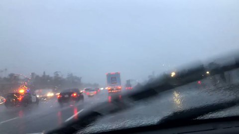 Commuters Face Flash Flooding in California