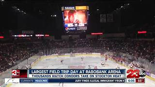 Over 8000 kids attend Bakersfield Condors game for a field trip! - Video
