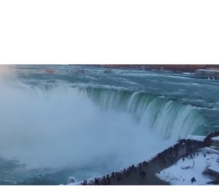 Drone Captures Glorious Winter Scene at Freezing Niagara Falls - Video