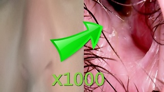 Watching my nose from inside (disgusting) - microscope x1000  - Video