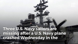 Navy Plane Goes Down In Pacific, Crews Searching - Video