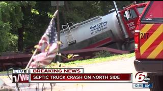 Thousands of gallons of human waste spilled into creek after crash - Video