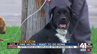 Family displaced by fire wonders when they'll get to go home