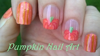 Pumpkin nail art design for fall - Video
