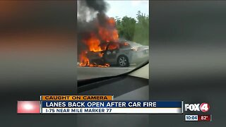 Alligator Alley reopened after vehicle fire on Monday