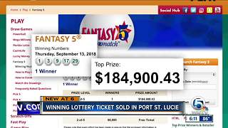 Lotto ticket turning heads in Port St. Lucie