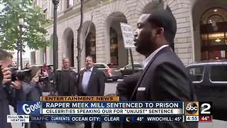 Meek Mill receives up to four years in prison for violating parole - Video