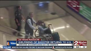 Vegas shooter's girlfriend arrives in U.S. - Video