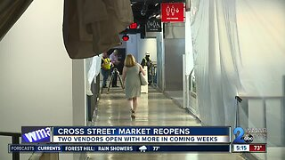 After a delayed re-opening, Cross Street Market welcomes visitors again