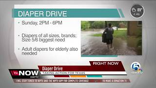 Taking action for Texas: Diaper Drive in Downtown West Palm Beach