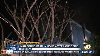 Man found dead after Encinitas house fire