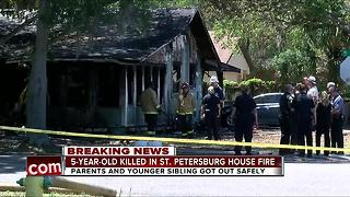 5-year-old boy found dead in St. Petersburg house fire - Video