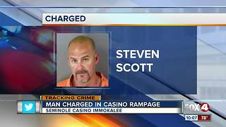 Police: Man goes on rampage at casino after losing money - Video