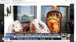 Fireball bagels available in New Jersey - Video