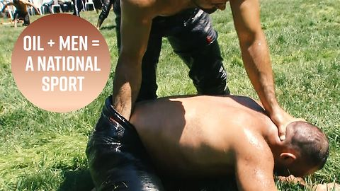 Turkish oil wrestling is a slippery tradition