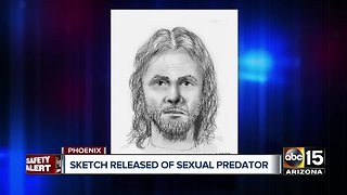 Sketch released of sexual predator