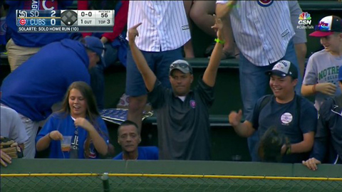 Cubs Fan FLIPS OFF Padres Player After Throwing His Home Run Ball Back