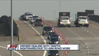 Drivers dealingwith traffic nightmares due to I-696 road work - Video
