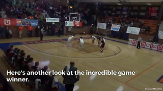 HS Freshman Nails Buzzer Beater From Over 70 Feet Out - Video