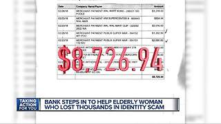 Bank steps in to help elderly woman who lost thousands in identity scam