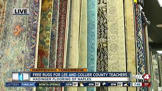Free rugs for Lee and Collier County teachers - Video