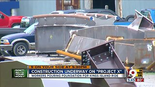Construction underway at Kings Island