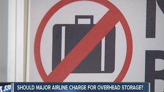 What do customers think about United Airlines plan to charge for overhead storage with its new cheap fare - Video