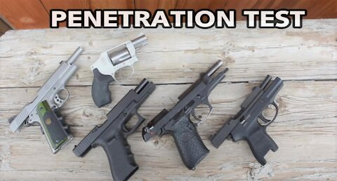 Penetration Test of 5 Pistols Shooting through a 1971 Chevy Truck Door by Wapp Howdy