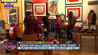GV Artwork honors Indians super fan who died from stroke with custom t-shirt - Video