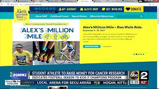 HS football kicker playing for cancer research - Video