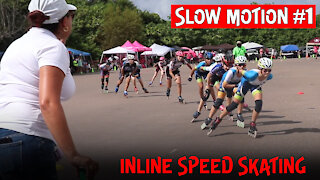 Inline Skating Race Event In Tampa, Florida | Slow Motion Action