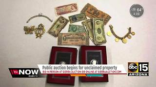 State officials auctioning off unclaimed property - Video