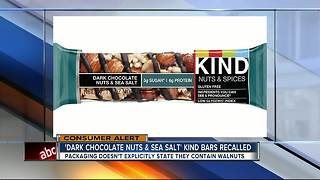 Recall issued for KIND bars due to mislabeled ingredients - Video