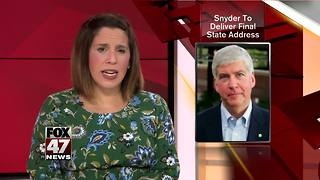 Governor Rick Snyder to deliver his final State of the State - Video