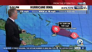 Hurricane Irma 5 p.m, update - Video