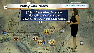 Gas prices down in many areas of Valley - Video